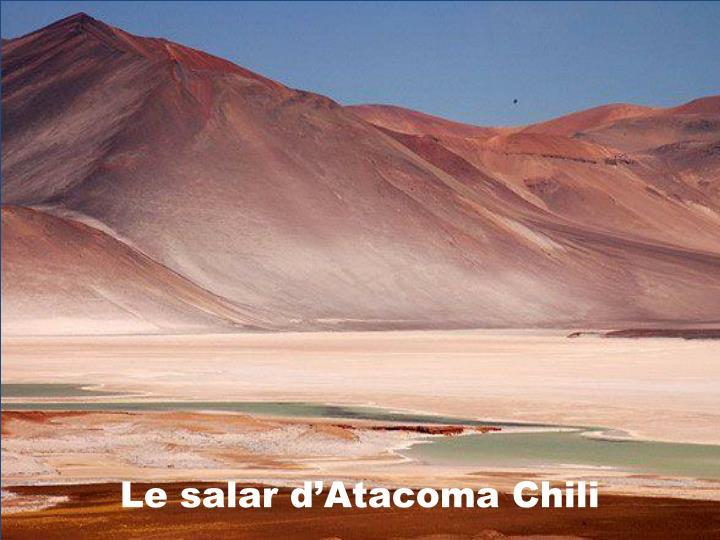 Le salar d'Atacoma Chili