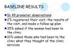 baseline results11