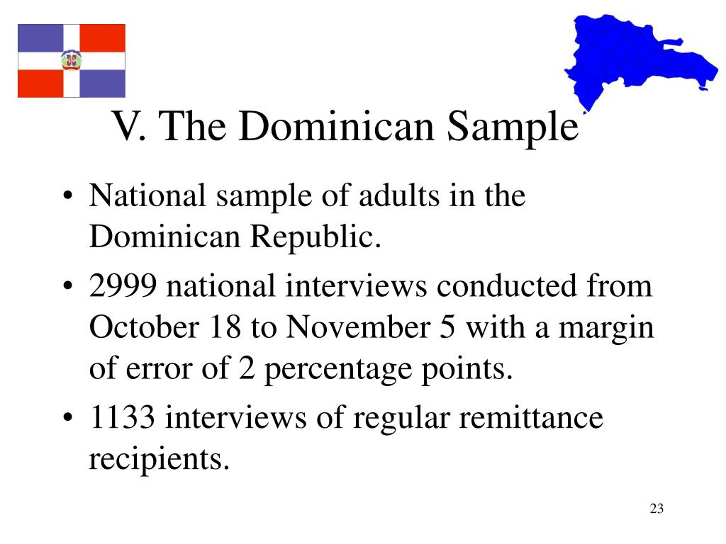 V. The Dominican Sample