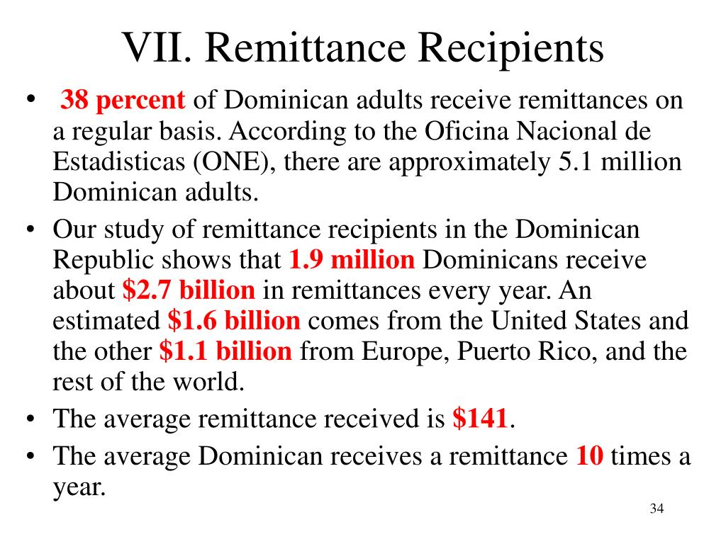 VII. Remittance Recipients