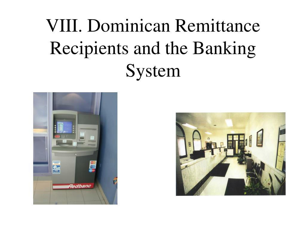 VIII. Dominican Remittance Recipients and the Banking System