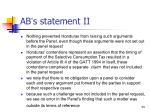 ab s statement ii