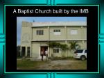 a baptist church built by the imb
