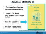 activities mdr sdas 2