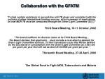 collaboration with the gfatm