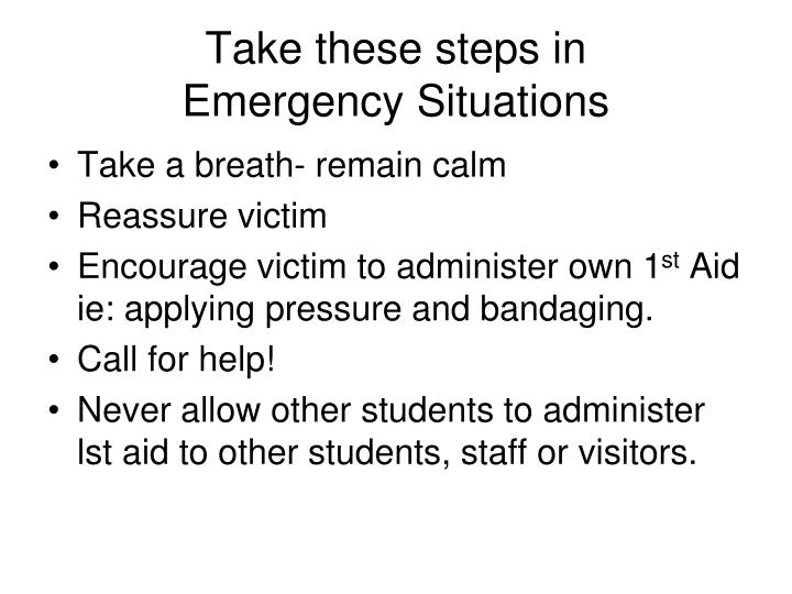 Take these steps in