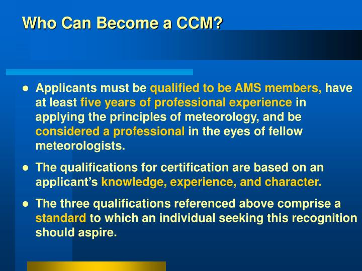 Ppt An American Meteorological Society Ams Certification Program