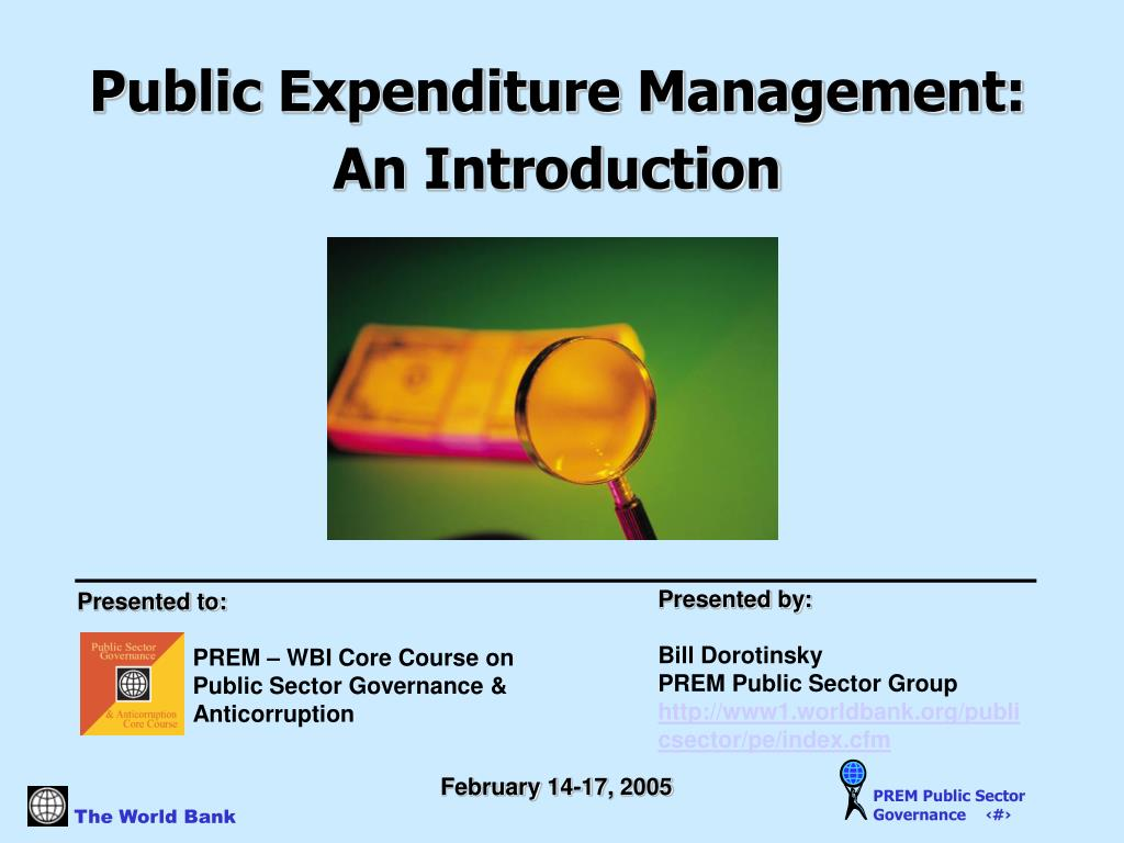 Public Expenditure Management: