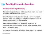 two big economic questions12
