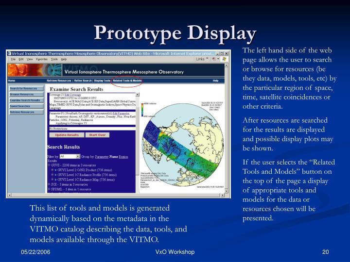 Prototype Display