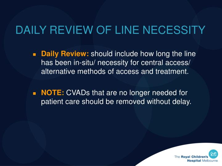 DAILY REVIEW OF LINE NECESSITY