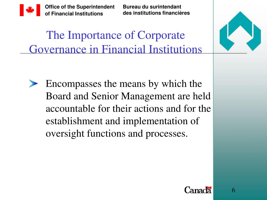 The Importance of Corporate Governance in Financial Institutions