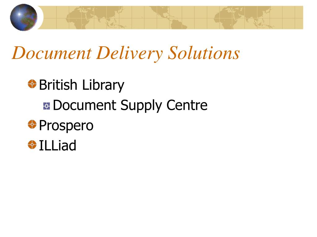 Document Delivery Solutions