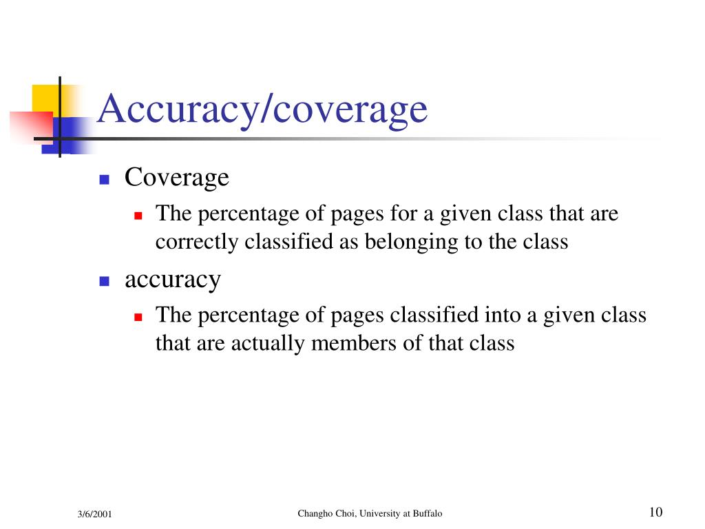 Accuracy/coverage