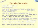 darwin no scales
