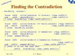 finding the contradiction27