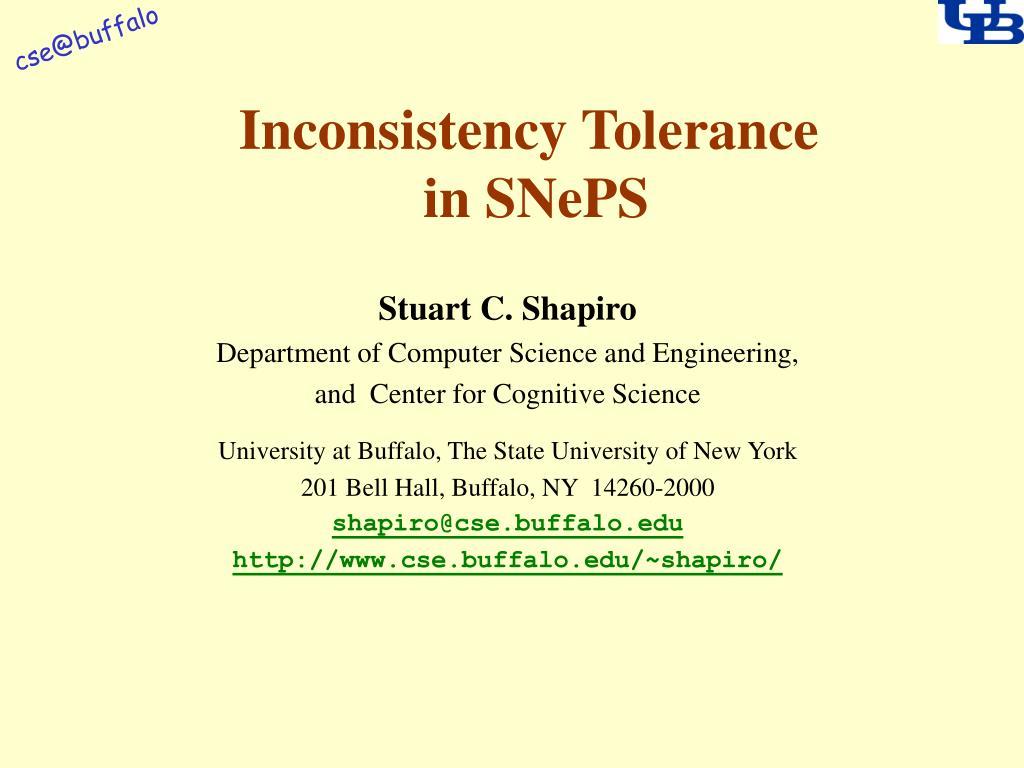 inconsistency tolerance in sneps l.