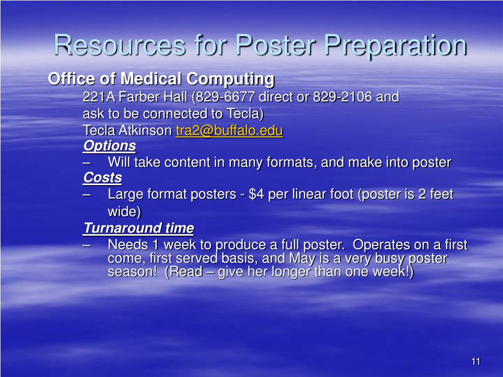 Resources for Poster Preparation