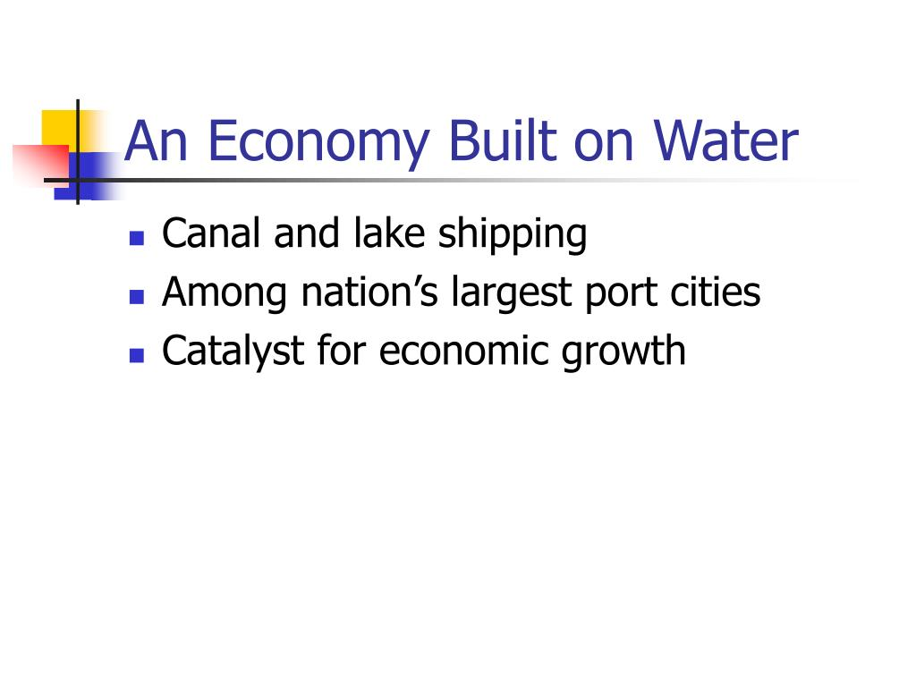 An Economy Built on Water