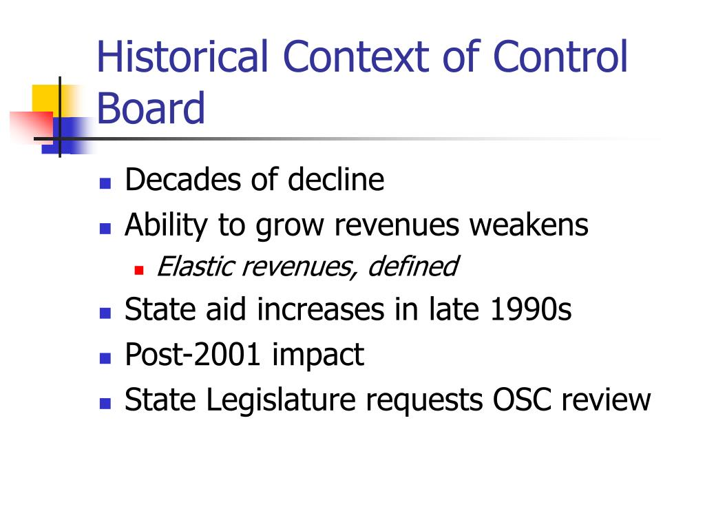Historical Context of Control Board