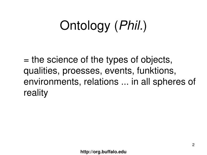 Ontology phil