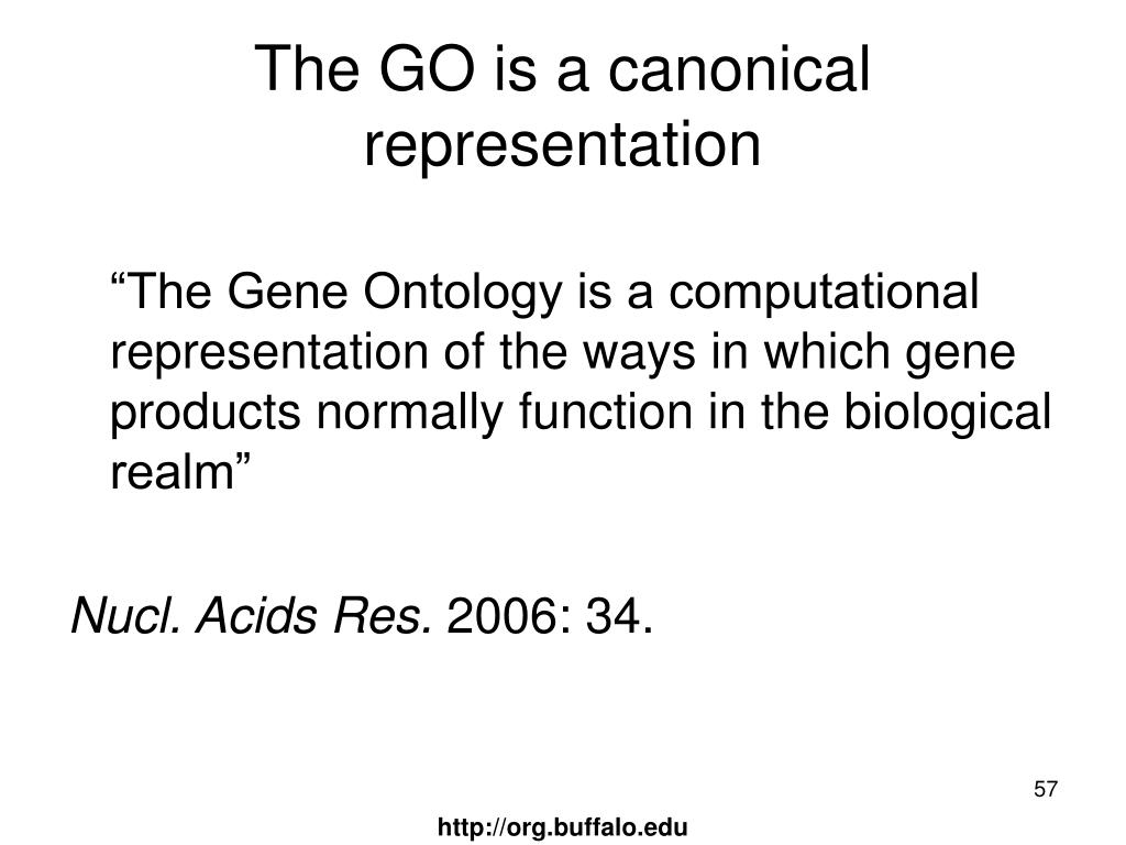 The GO is a canonical representation