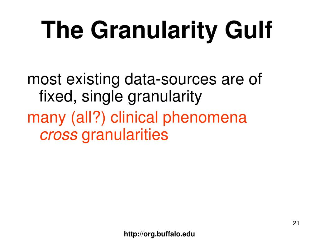 The Granularity Gulf
