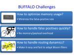 buffalo challenges