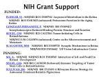 nih grant support