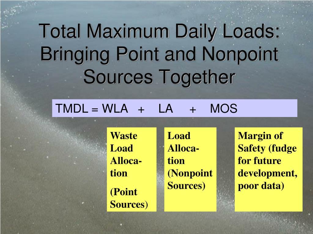 Total Maximum Daily Loads: