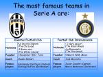 the most famous teams in serie a are
