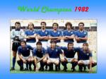 world champion 1982
