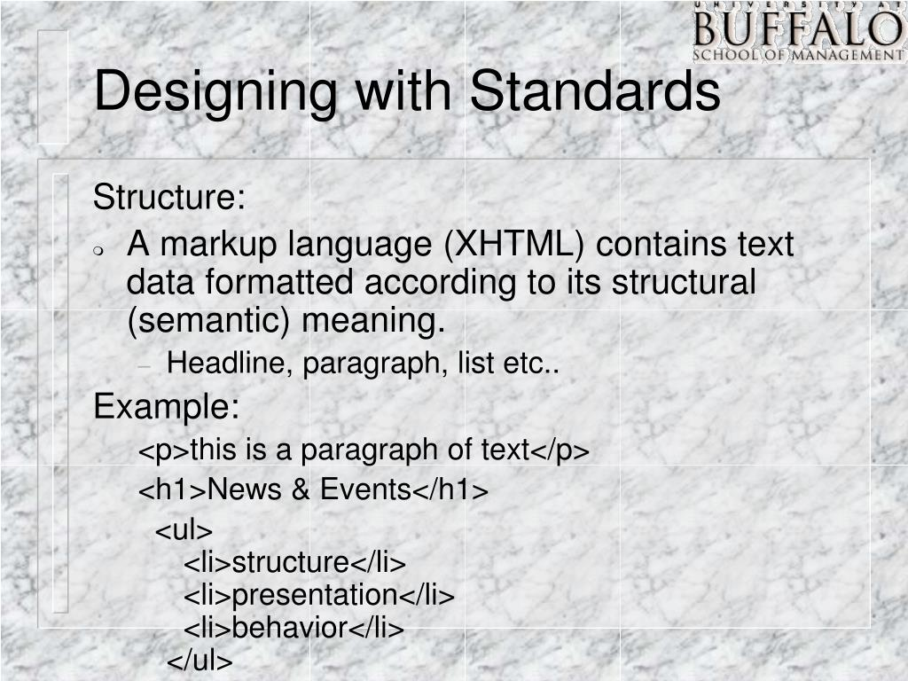 Designing with Standards