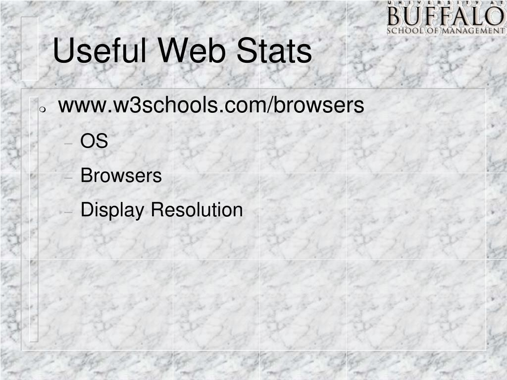Useful Web Stats