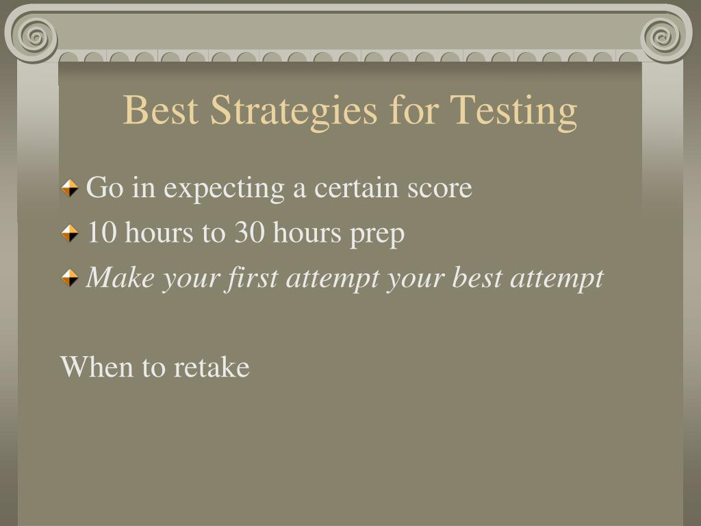 Best Strategies for Testing