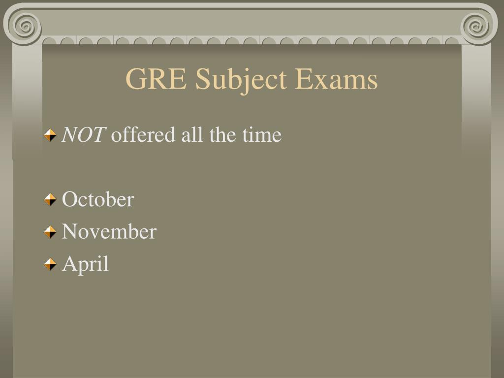 GRE Subject Exams