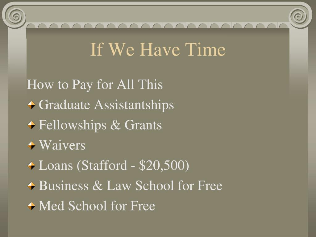 If We Have Time