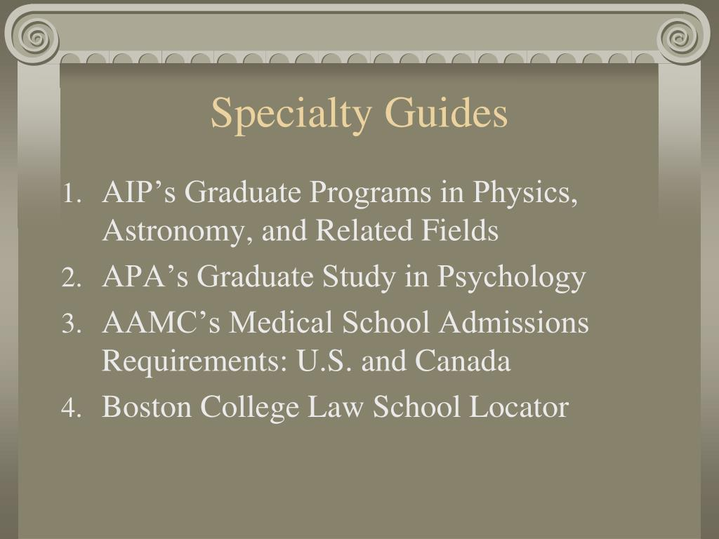 Specialty Guides