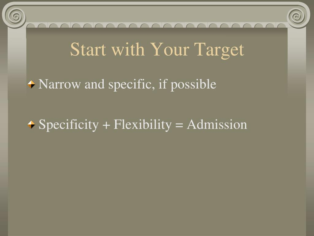 Start with Your Target