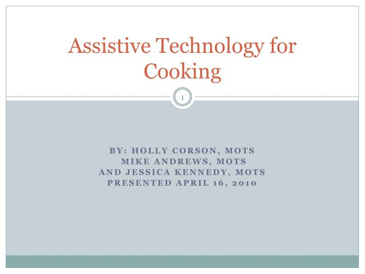 assistive technology for cooking n.