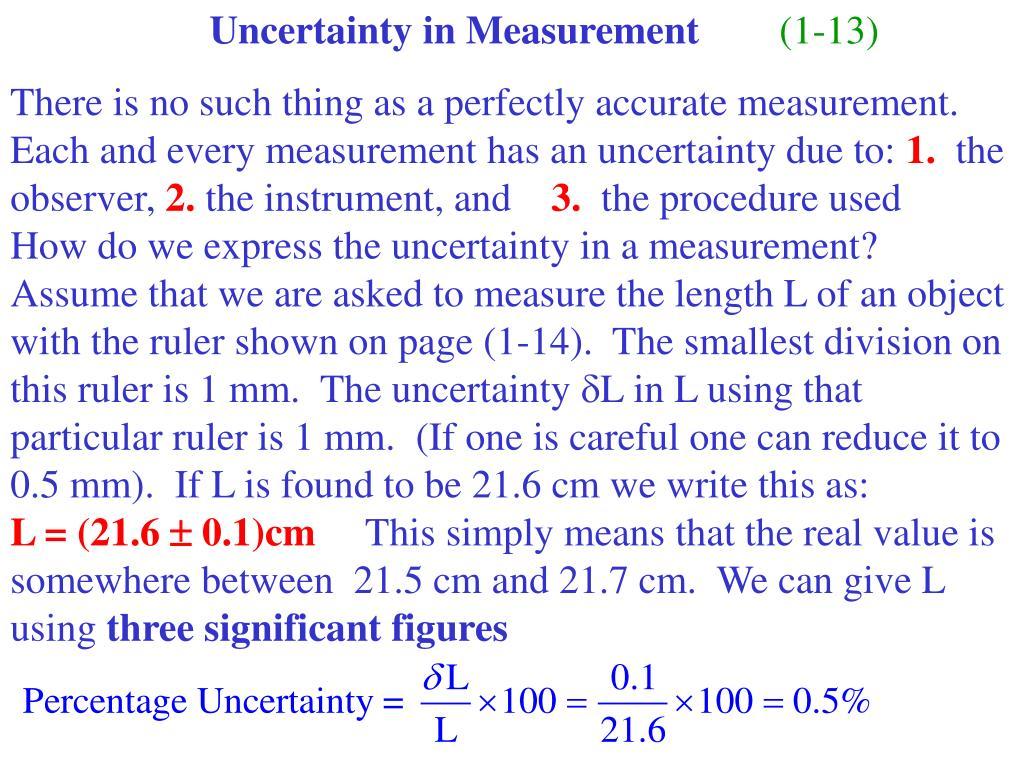 Uncertainty in Measurement