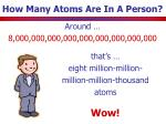 how many atoms are in a person