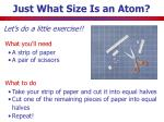 just what size is an atom