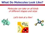 what do molecules look like