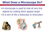 what does a microscope do
