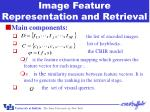 image feature representation and retrieval