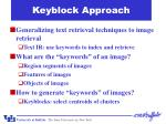 keyblock approach