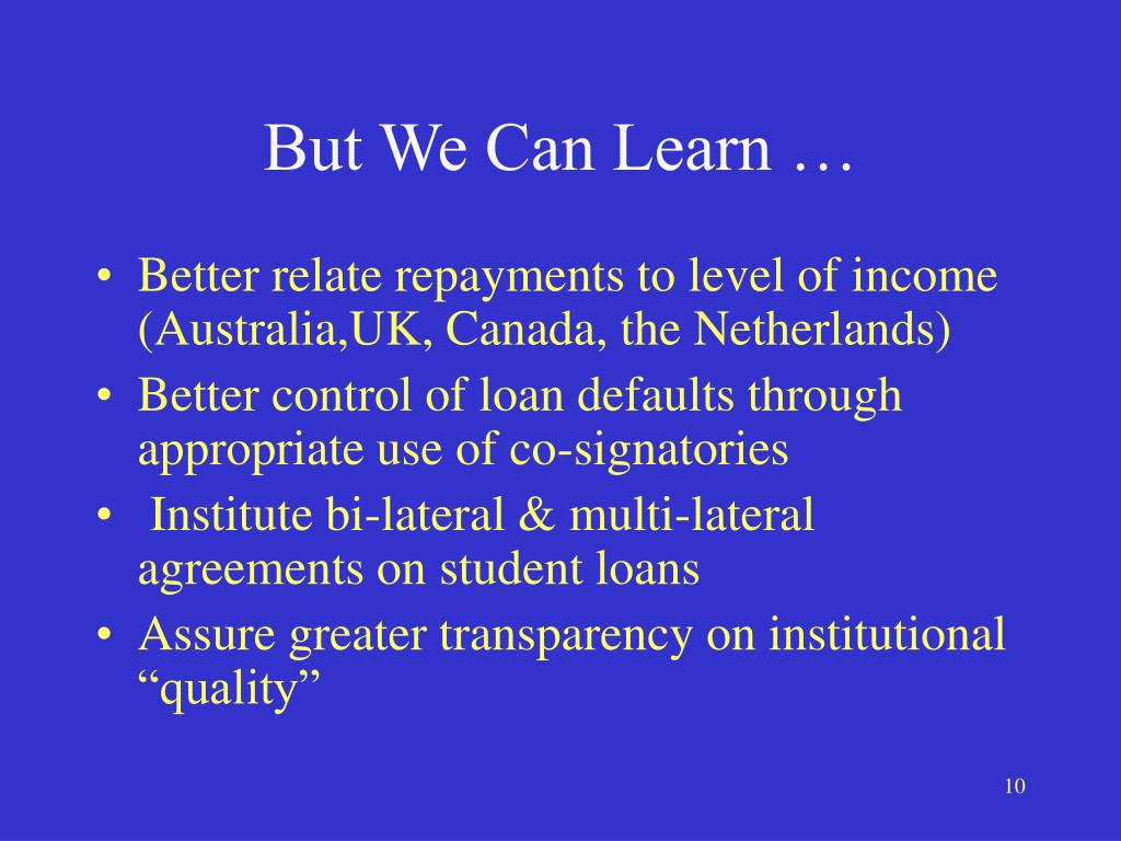 But We Can Learn …