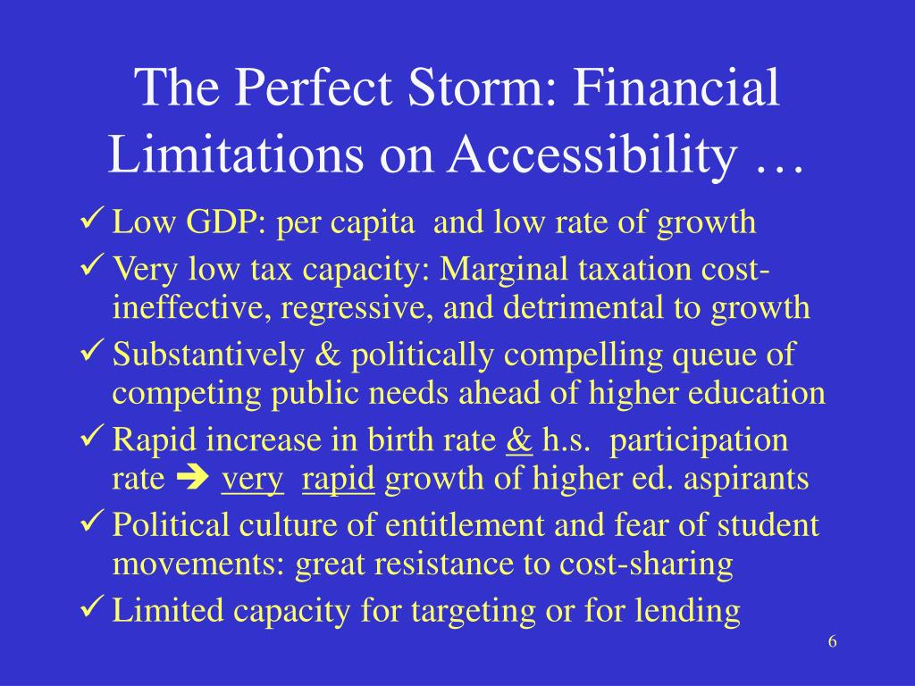 The Perfect Storm: Financial Limitations on Accessibility …