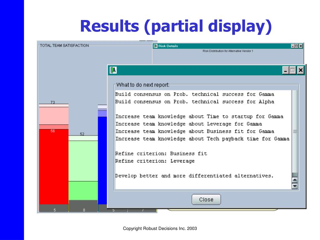 Results (partial display)